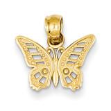 Butterfly Pendant 14k Gold D4205