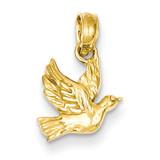 Flying Dove Pendant 14k Gold D4210