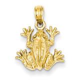 2-D Frog Pendant 14k Gold D4217