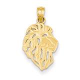 Lion Head Pendant 14k Gold D4225