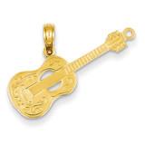 Guitar Pendant 14k Gold D4263