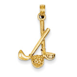 3-D Clubs and Ball Pendant 14k Gold D4281