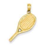 3-D Racquetball Pendant 14k Gold D4285