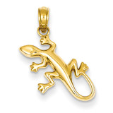 Gecko Pendant 14k Gold Polished D4389