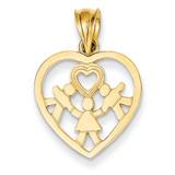 Heart Charm 14k Gold D590