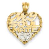 Rhodium Soul Mate Pendant 14k Gold D609