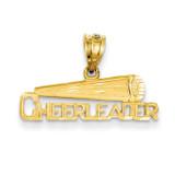 Cheerleader Pendant 14k Gold D723
