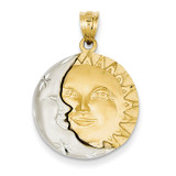 Sun & Moon Charm 14k Gold D8