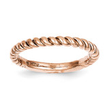 Polished Twisted Band 14k Rose Gold D907
