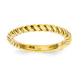 Twisted Band 14k Gold Polished D908