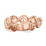 Polished Scroll Ring 14k Rose Gold D909