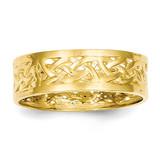 Celtic Knot Band 14k Gold Polished D912