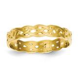 Celtic Knot Band 14k Gold Polished D915