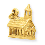 3-D Church Charm 14k Gold D987