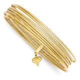 Slip On 7 Bangles 14k Gold DB531