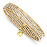 Slip On 7 Bangles 14k Tri-Color Gold DB533