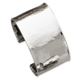 37mm Hammered Polished Bangle 14k White Gold DB563