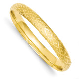 5/16 Diamond-cut Fancy Hinged Bangle Bracelet 14k Gold DB96