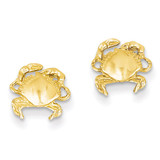 Crab Earrings 14k Gold E907