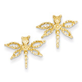 Dragonfly Earrings 14k Gold E910