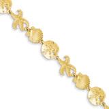 Seashell Theme Bracelet 7.25 Inch 14k Gold FB1143-7.25