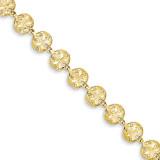 Sand Dollar Bracelet 7 Inch 14k Gold FB1265-7