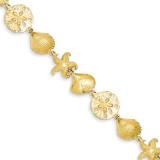 Sea Life Bracelet 7.25 Inch 14k Gold FB1274-7.25