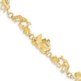 Noah's Ark Bracelet 7 Inch 14k Gold FB375-7