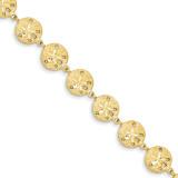 Sand Dollar Bracelet 7 Inch 14k Gold FB405-7