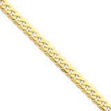 5.75mm Beveled Curb Chain 8 Inch 14k Gold FBU140-8