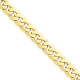 7.25mm Beveled Curb Chain 9 Inch 14k Gold FBU180-9