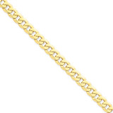 8mm Beveled Curb Chain 8 Inch 14k Gold FBU200-8