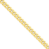 9.5mm Beveled Curb Chain 8 Inch 14k Gold FBU250-8