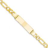 Figaro ID Bracelet 8 Inch 14k Gold FIG200ID-8