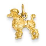 3-Dimensional Poodle Charm 14k Gold Solid K1003