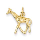 3-Dimensional Giraffe Charm 14k Gold Solid Polished K1008