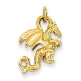 3-Dimensional Dragon Charm 14k Gold Solid Polished K1012