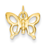 Butterfly Charm 14k Gold Solid Polished K1027