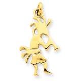 3-Dimensional Kokopelli Charm 14k Gold Polished K1064