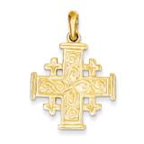 Jerusalem Cross Pendant 14k Gold K1232