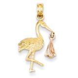 Stork Pendant 14k Two-Tone Gold K1331
