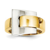 Polished Buckle Ring 14k Two-Tone Gold K1446