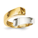 Square Overlapping Ring 14k Two-Tone Gold K1448