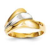 Polished Wave Ring 14k Two-Tone Gold K1449