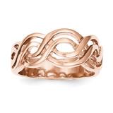 Infinity Ring 14k Rose Gold K1468
