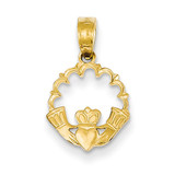 Claddagh Pendant 14k Gold Polished K1529