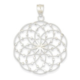 Diamond Cut Sphere Pendant 14k White Gold K1550