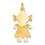 Satin Girl Charm 14k Gold K163