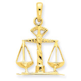 Scales of Justice Pendant 14k Gold K1789
