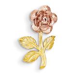 Mini Pink Rose Flower Chain Slide 14k Two-Tone Gold K1806